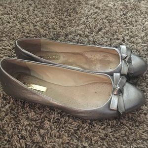 Silver Pointy-toes Flats